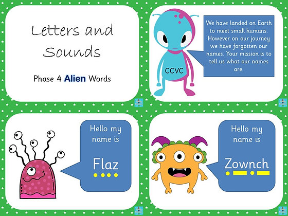 Phonics Screening - Phase 4 Alien Word PowerPoint