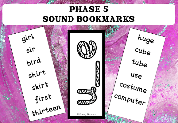 Phase 5 Sound Book Marks