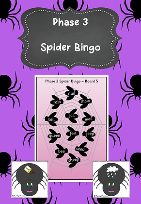 Halloween Themed - Phase 3 Spider Bingo