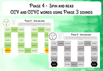 Phase 4 CCVC words (phase 3 sounds) cove