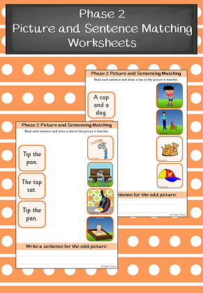Phase 2 Picture and Sentence Matching Worksheets