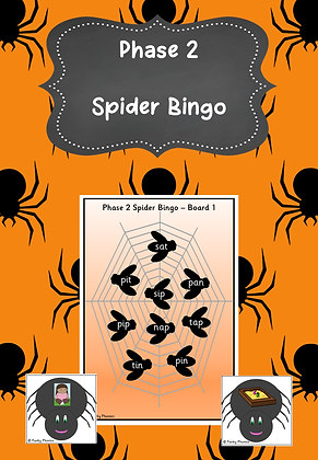 Halloween Themed - Phase 2 Spider Bingo