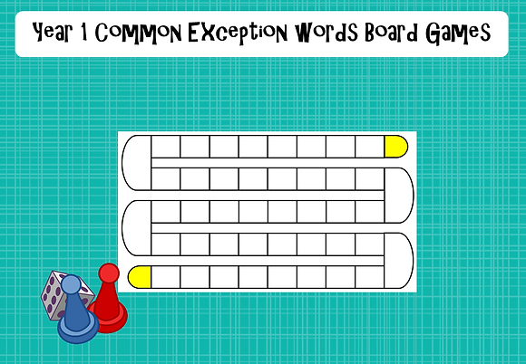 Year 1 Common Exception Word - Board Games