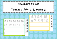 Numbers to 20 trace it^J make it^J write