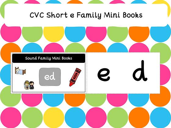 CVC Short e Family Mini Books