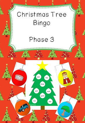 Christmas Themed - Phase 3 Christmas Tree Bingo