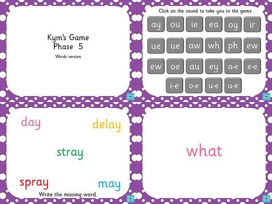 Phase 5 - Kym's Game Word Version
