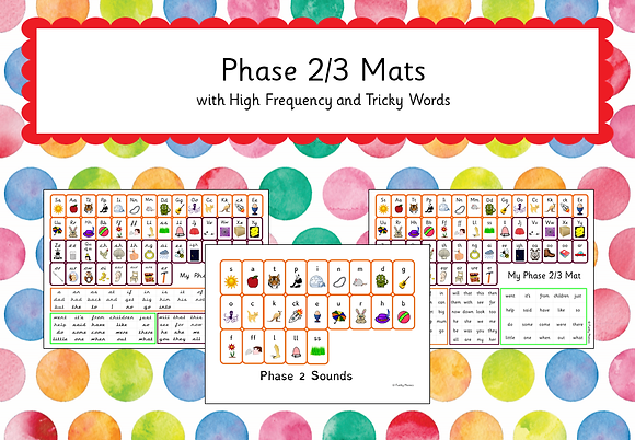 Phase 2/3 - Mats with High Frequency Words