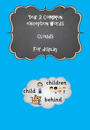 Year 2 Common Exception Word - Clouds