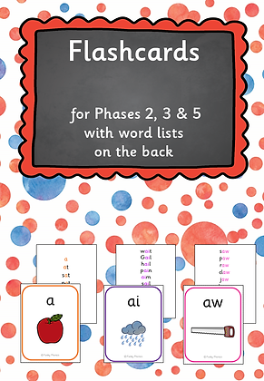 Flashcards for Phase 2-5 with word list
