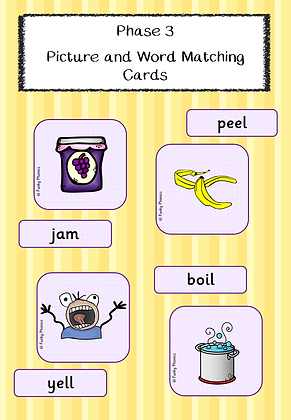 Phase 3 Picture and Word Matching Cards