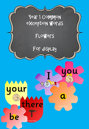 Year 1 Common Exception Words - Display Flowers