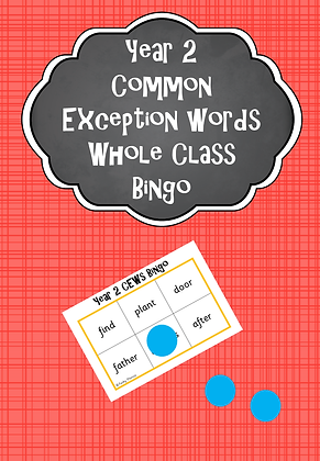 Year 2 Common Exception Words - Whole Class Bingo