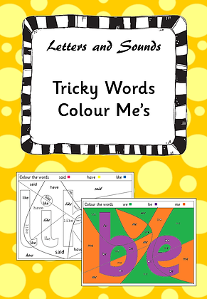 Tricky Word Colour Me's