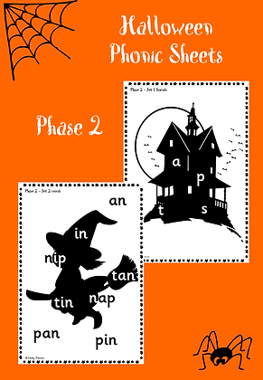 Halloween Themed - Phase 2 Phonic Sheets