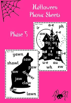 Halloween Themed - Phase 5 Phonic Sheets
