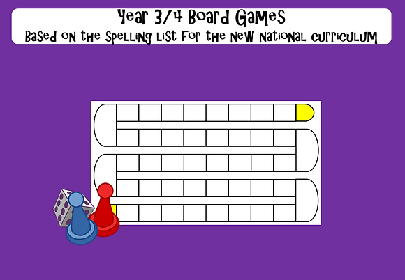 Year 3/4 Common Exception Words - Board Games