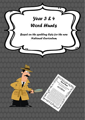 Year 3/4 Common Exception Words - Word Hunts
