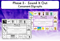 Phase 3 Sound It Out Game (consonant dig