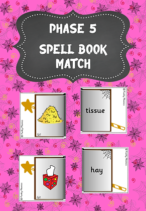 Halloween Themed - Phase 5 Spell Book Match