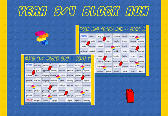 Year 3/4 Common Exception Words - Block Run Game