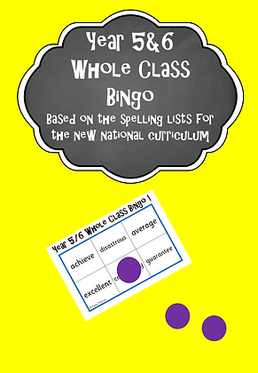 Year 5/6 Common Exception Words - Whole Class Bingo