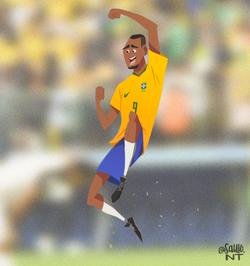 Soccer brazilian player