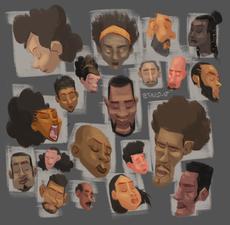 Black characters