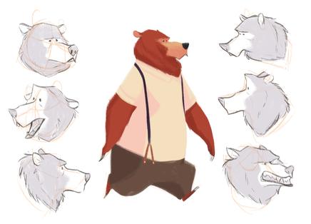 Jazz Bear model sheet