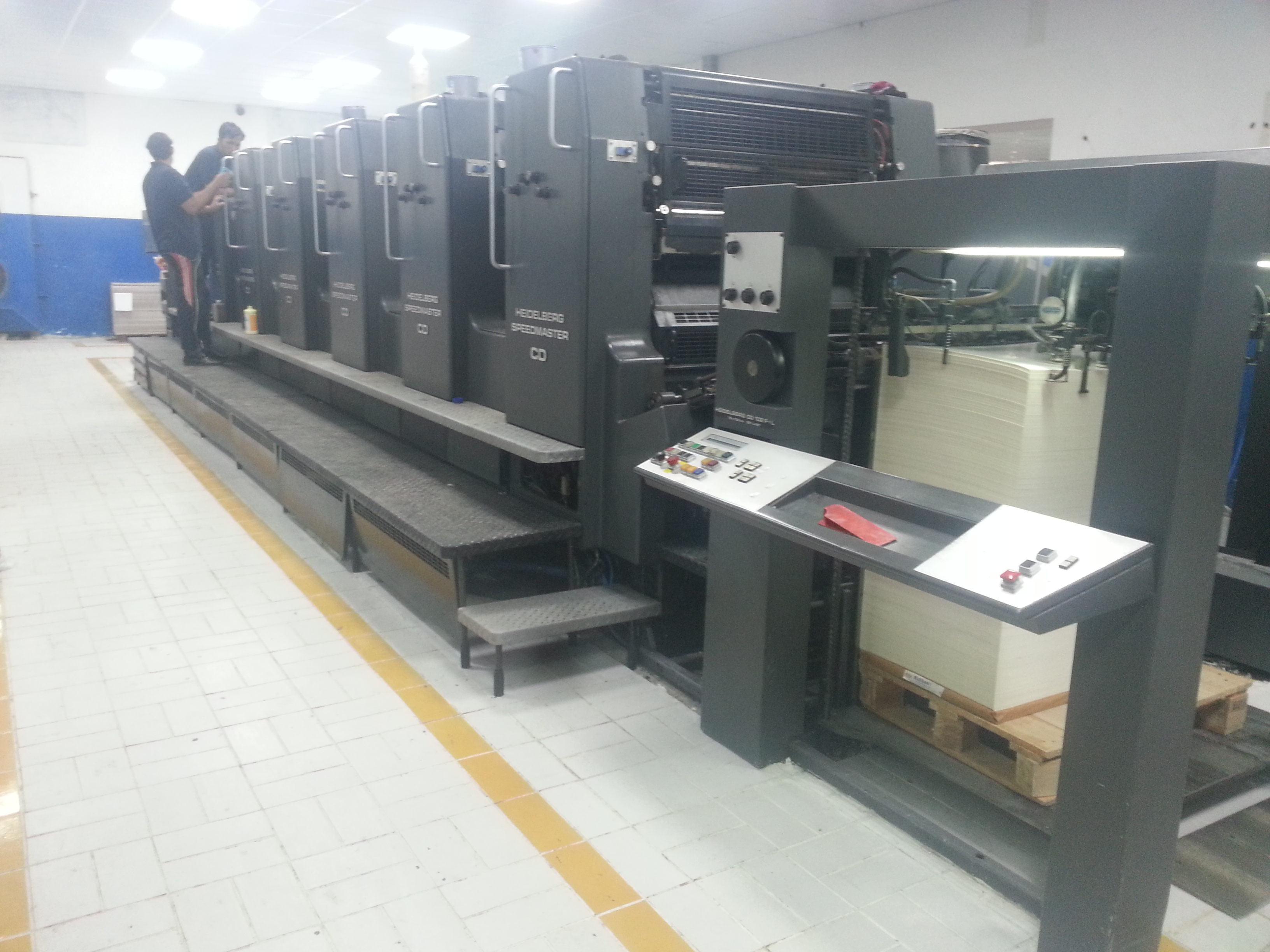Heidelberg 5 color with Coater