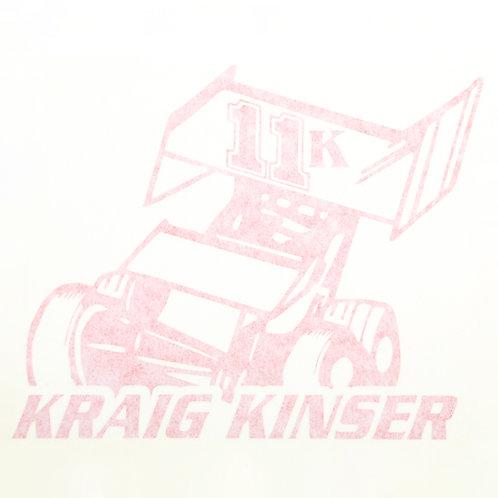 Kraig Kinser 11K Sprint Car Decal - Red