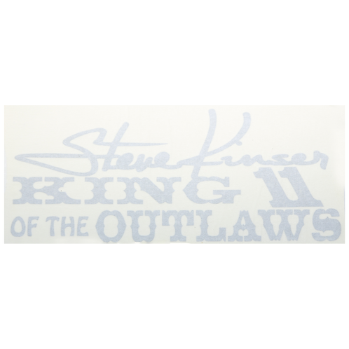 Steve Kinser King of the Outlaws Decal