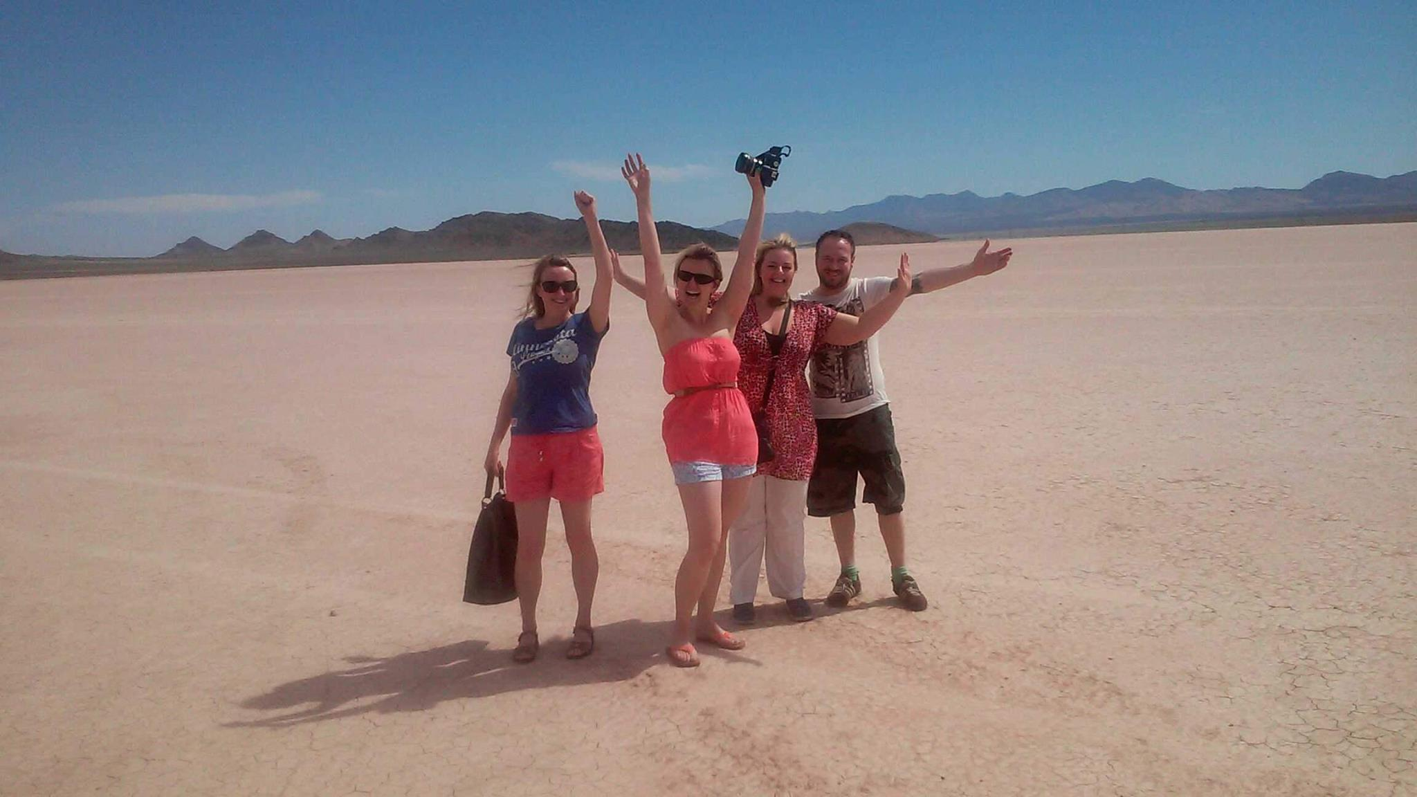 Fun on the dry lake