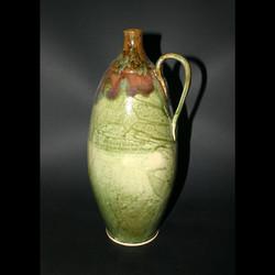 tall handled jug greenredbrown