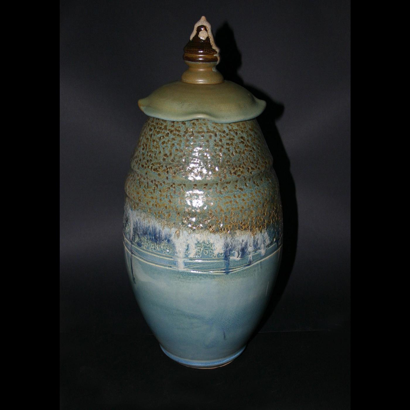 Tall lid vase