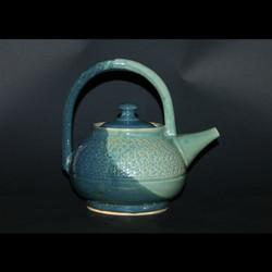 mediterranean & robin egg tea pot