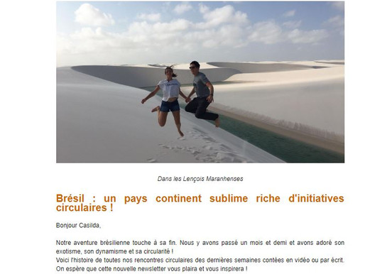 Newsletter #4 Brésil !