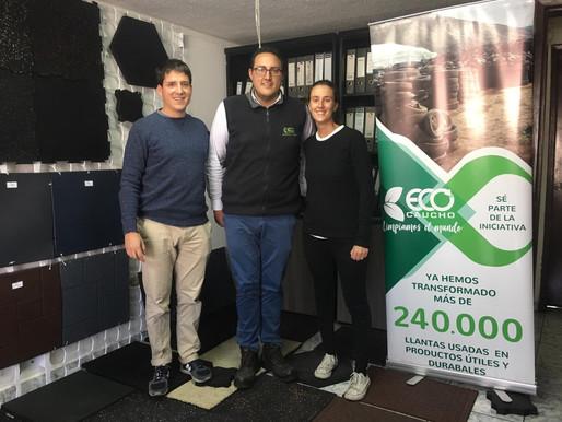 Refabriquer et recycler des pneus usagés, l'innovation gagnante d'Ecocaucho !