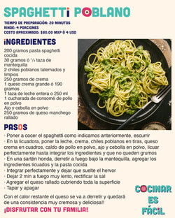 Spaghetti Poblano