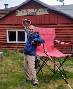 Jai checking out remote fishing lodge
