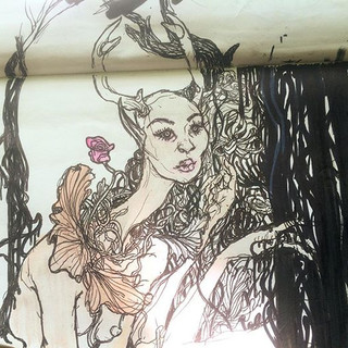 forest sketching #doodles #lady #creatur