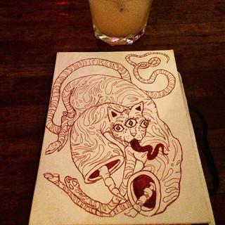 #inktober day 18=bar doodle spaghetti ca
