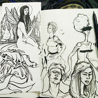 people and things #artoftheday #penandin