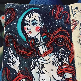 beep bop space lady #doodles #art #illus