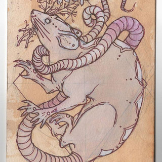 Year of the Rat commission  #art #greeti