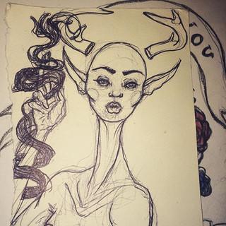 doodles #bonnaroo2016 #boobs #illustrati