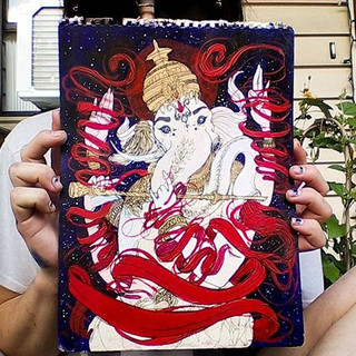 Completed Ganesha portrait for _rhondylo