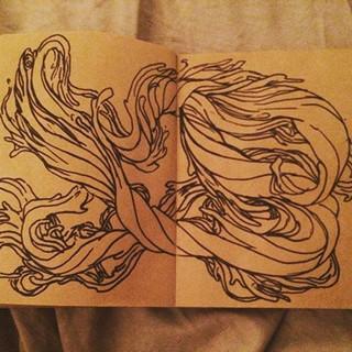 First day of #inktober doodle #swirls #w