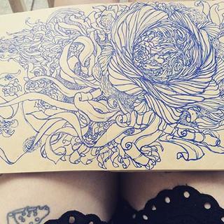 morning doodles #doodles #flowers #flow