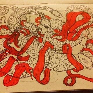 le snek #inktober day 21 #snake #doodle
